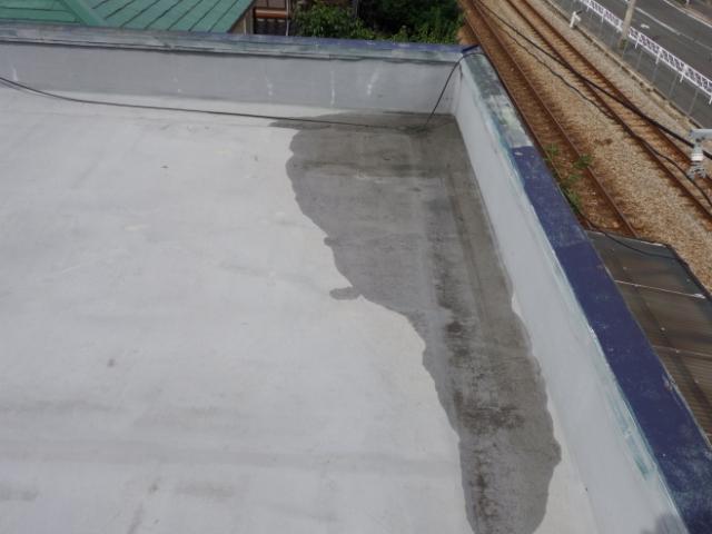 陸屋根水たまり